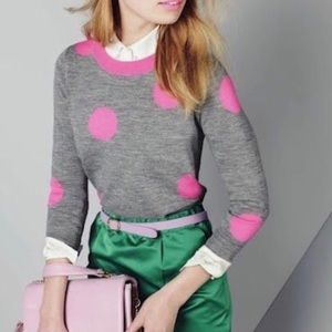 J. Crew Tippi Sweater in Gray and Pink Size S